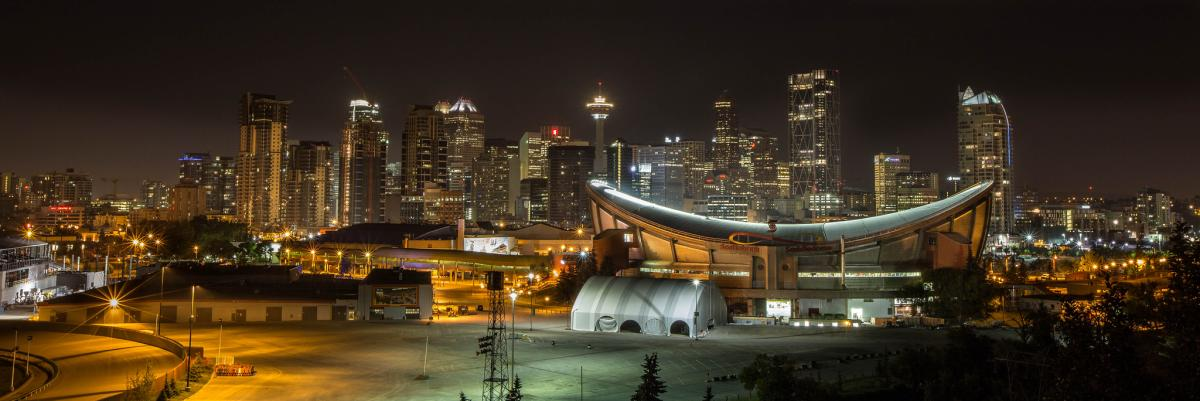 Saddledome in Calgary by Gregg Jaden